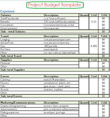 Time Budget Template Project Budget Templates 4 Free Printable Word Excel