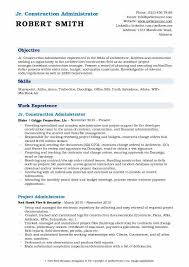 Sample Resume Construction Project Manager Construction Administrator Resume Samples Qwikresume