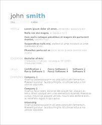 Resume Format Word Document Free Download Resume Templates Free Word Document Ladylibertypatriot Com
