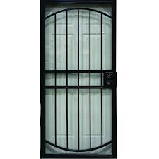 security doors at lowes. Contemporary Security LARSON Geneva Black Steel Security Door Common 36in X 81in To Doors At Lowes U