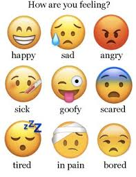 Special Education Feelings Chart