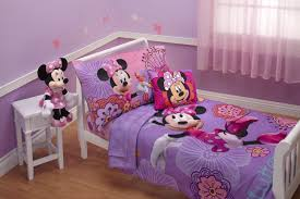 Minnie Mouse Bedroom Curtains Amazoncom Disney 4 Piece Minnies Fluttery Friends Toddler