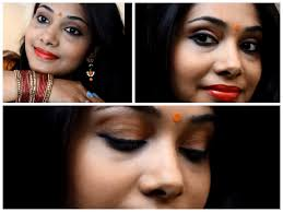 traditional bengali party makeup pohela boishak 2016 makeup tutorial outfit in