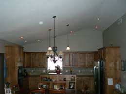 Kitchen Lighting For Vaulted Ceilings Angled Ceiling Lighting Sloped Kitchen Cukeriadaco