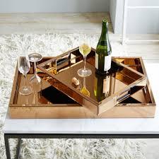 fabulous design mirrored. Mirrored Copper Trays Fabulous Design I