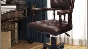 vintage office chair for sale. Mesmerizing Vintage Desk Chair In Antique Style Office Chesterfield Solid Wood For Sale