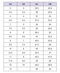Asics Gel Lyte Sizing Chart