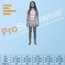Zoggs Sizing Guides