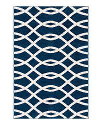 blue modern trellis mystic rug