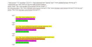 xml sitemap van webtaal elementen sitemap uitgelegd