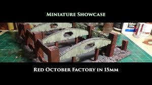 Novus Design Miniature Showcase Red October Factory In 15mm By Novus Design Studio