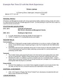Job Resume Examples Enchanting Example Job Resume Student Job Resume Examples Part Time Resume