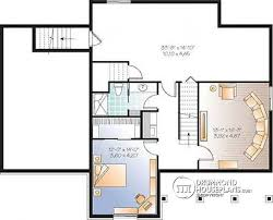 House plan W  V detail from DrummondHousePlans com    Basement Affordable Small Country house plan  great floor plan layout  to bedroom
