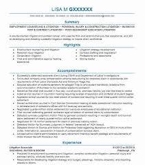 Litigation Associate Resume Example Goehring Rutter Boehm