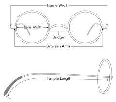 Eyeglass Frame Size Chart Vintage Glasses Size Chart Glasses Eyeglasses Vintage