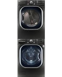 stackable washer and gas dryer. Interesting And LG LGWADRG4379 Stacked Washer U0026 Dryer Set With Front Load And Gas  In Black Inside Stackable And R
