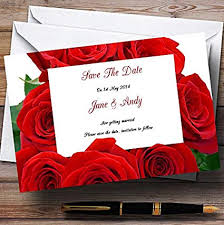 Red Save The Date Cards Amazon Com Red Rose Love Letter Personalized Wedding Save