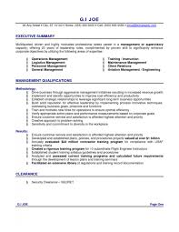 resume summary on resume example example of a summary for a resume
