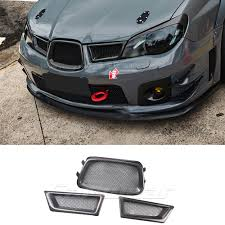 2006 Wrx Fog Light Kit Us 92 38 24 Off 3pcs Carbon Fiber Frame Front Mesh Grill Grille For Subaru Impreza Wrx 9th 2005 2006 In Racing Grills From Automobiles Motorcycles