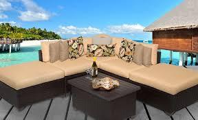cabana 6 piece outdoor wicker patio