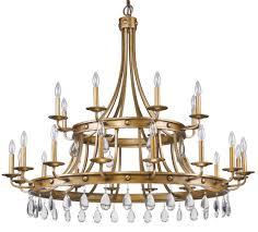 krista antique gold crystal chandelier