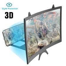 2 3X 3D ekran amplifikatör 12 inç 3D cep telefonu ekran büyüteci HD Video  amplifikatör akıllı telefon standı gözler koruma tutucu Magnifiers