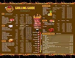 Large Grilling Temp Guide Bbq And Smoker Chart By Chefs Magnet Meat Temperature Guide Outdoors Or Indoor Accessory Cooking Professional