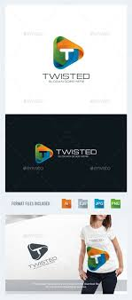 Graphic Letter Design Online Twisted Letter T Logo Template Letters Logo Templates