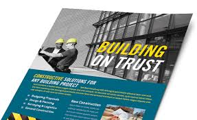 flyer companies construction marketing brochures flyers postcards