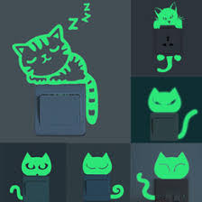 cute wallpapers for walls switch home decorations cute creative kitten cat luminous noctilucent glow