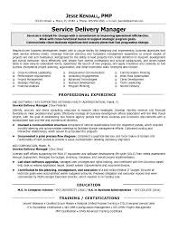Service Delivery Manager Resume Htm It Service Delivery Manager