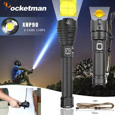 Most Powerful Led Torch Light Us 15 55 92 Off Highest Lumen Most Powerful Xhp90 Long Range Flashlight Led Tactical Zoom Xhp70 2 Led Torch Light Use 26650 Large Battery In Led