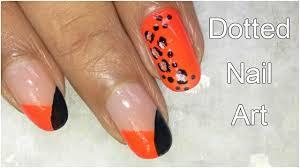 Easy Dotted Nail Art Designs Using Black and Orange Nail Polish ...