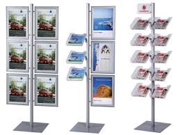 Multiple Poster Display Stands Modular Info Display Stands Merchandising Systems 37