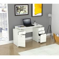 inval laricina white modern straight computer writing desk with throughout locking drawers idea 17