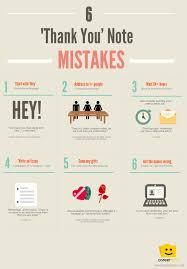 6 Thank You Note Mistakes Infographic Careerbliss