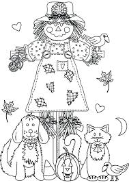 printable scarecrow coloring pages free fall for kids sheets color