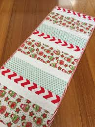 Christmas Table Runner Patterns Adorable Candy Cane Christmas Table Runner FaveQuilts
