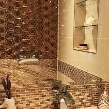3D Rose Gold Hexagon Copper Mix ...