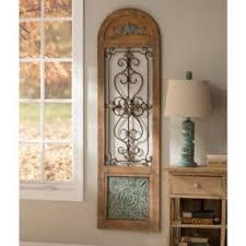 marvelous idea arched wall decor window metal iron gate decorating niche shutter door decorative mirror