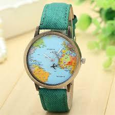 popular canvas watches man women buy cheap canvas watches man hot men women watches casual canvas quartz wrist watch global travel by plane map casual