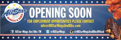 Employment Opportunities Allstar Wings Ribs