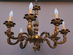 antique brass chandelier chain