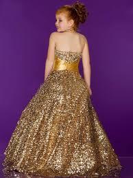 ball dresses for kids. splendid gold halter flower girl dress with ribbon sequins sweep train princess ball gown little girls pageant dresses for kids
