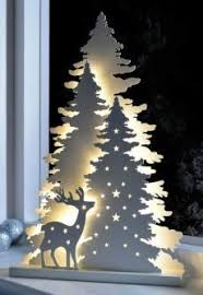 christmas tree silhouette wall art