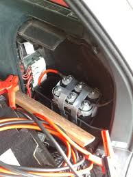 cr4 th substituting capacitors for a car battery the extra jumper cables aren t doing anything they are just sitting there as they are stored in that compartment as well p