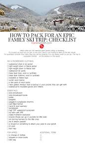 How To Pack For An Epic Family Ski Trip Marla Meridith