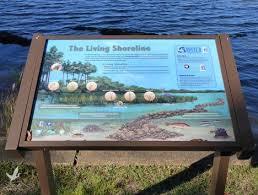 Several Interpretive Signs Dot The Shoreline At Eden Gardens