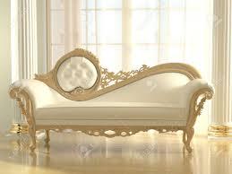 white Luxurious sofa isolated on white background, front view Stock Photo -  36630983