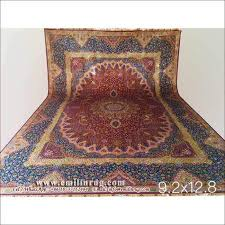 persian 100 silk rug hand knotted carpet 9x12 large area rugs red 240l 400kpsi double knots traditional antique persian tabriz style chinese manufacturer